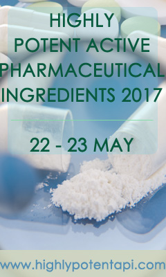 Banner for Highly Potent Active Pharmaceutical Ingredients (HPAPI) 2017