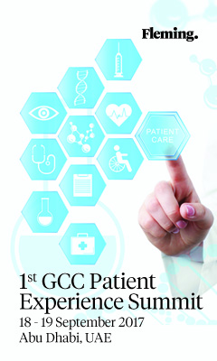 Banner for 1st GCC Patient Experience Summit
