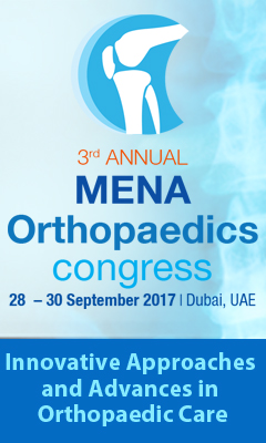 Banner for 3rd Annual MENA Orthopaedic Congress