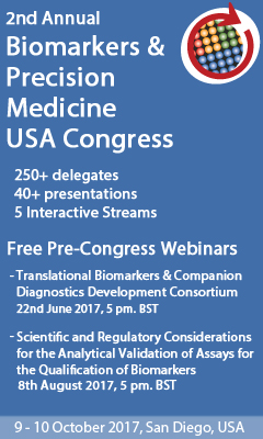 Banner for 2nd Annual Biomarkers & Precision Medicine USA Congress