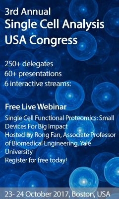 Banner for 3rd Annual Single Cell Analysis USA Congress