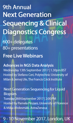 Banner for 9th Annual Next Generation Sequencing & Clinical Diagnostics  Congress