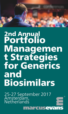 Banner for 2nd Annual Portfolio Management Strategies for Generics and Biosimilars