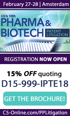 Banner for Pharma & Biotech Patent Litigation Conference