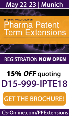 Banner for Pharma Patent Term Extensions