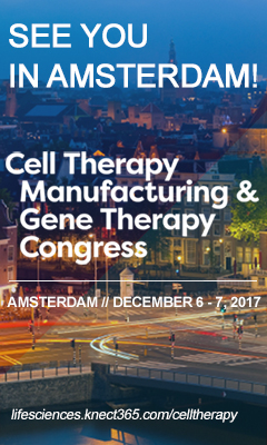 Banner for Cell Therapy Manufacturing & Gene Therapy Congress