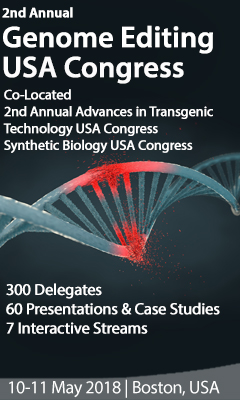 Banner for 2nd Annual genome Editing USA Congress 2018