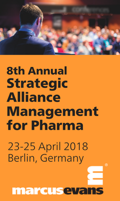 Banner for 8th Annual Strategic Alliance Management for Pharma