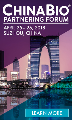 Banner for ChinaBio� Partnering Forum 2018