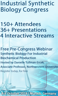 Banner for Industrial Synthetic Biology Congress 2018