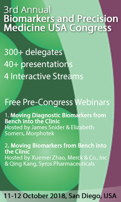 Banner for 3rd Annual Biomarkers & Precision Medicine USA Congress