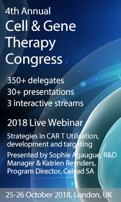 Banner for 4th Annual Cell & Gene Therapy Congress