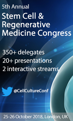 Banner for 5th Annual Stem Cell and Regenerative Medicine Congress