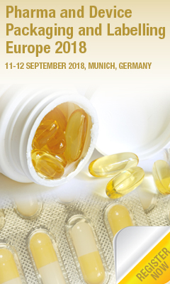 Banner for Pharma and Device Packaging and Labelling Europe 2018