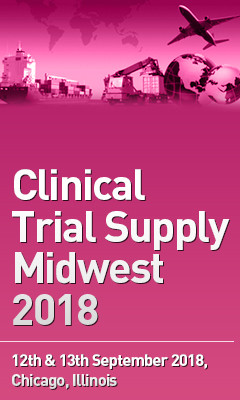 Banner for Clinical Trial Supply Midwest 2018