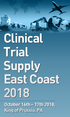 Banner for Clinical Trial Supply East Coast 2018