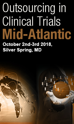 Banner for Outsourcing in Clinical Trials Mid-Atlantic 2018