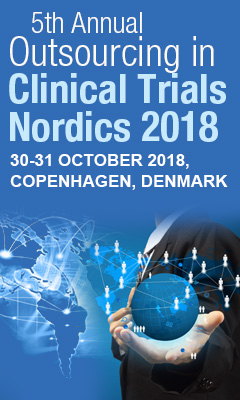 Banner for 5th Annual Outsourcing in Clinical Trials Nordics 2018