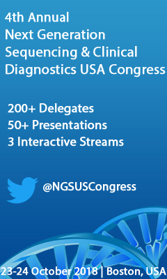 Banner for 4th Annual Next Generation Sequencing & Clinical Diagnostics USA Congress