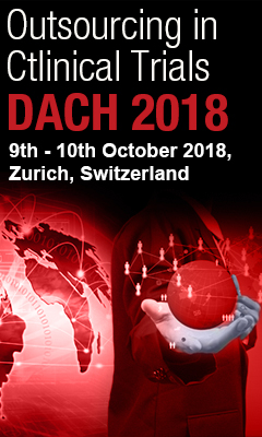 Banner for Outsourcing in Clinical Trials DACH 2018